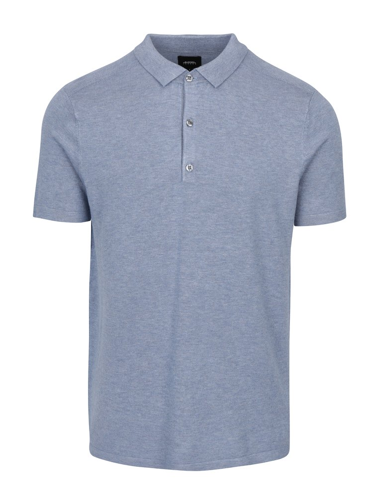 Modré žíhané polo tričko Burton Menswear London