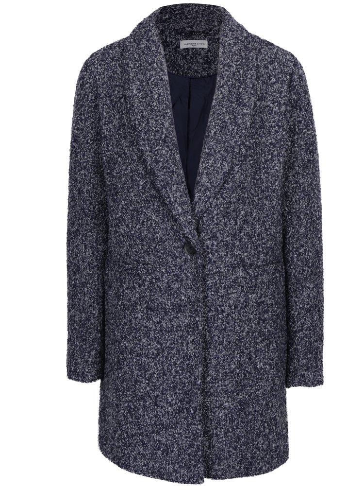 Tmavě modrý žíhaný kabát Jacqueline de Yong Olivia