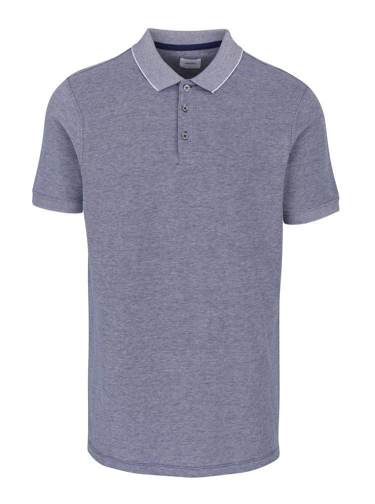 Modré vzorované polo tričko Burton Menswear London
