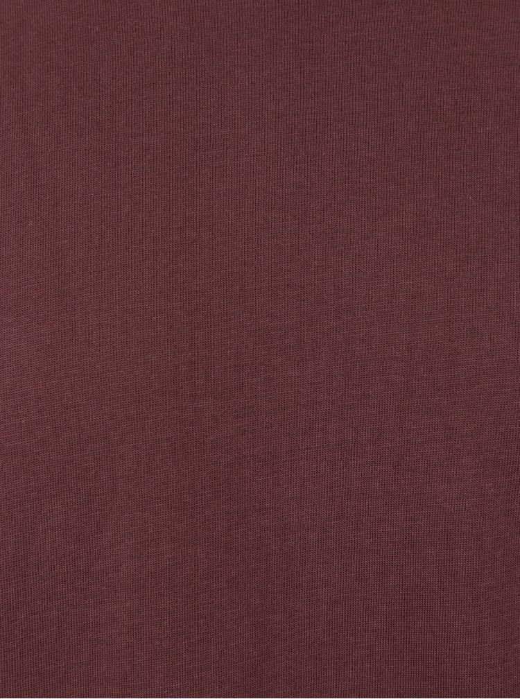 Tricou burgundy din bumbac prima -  Selected Homme The Perfect