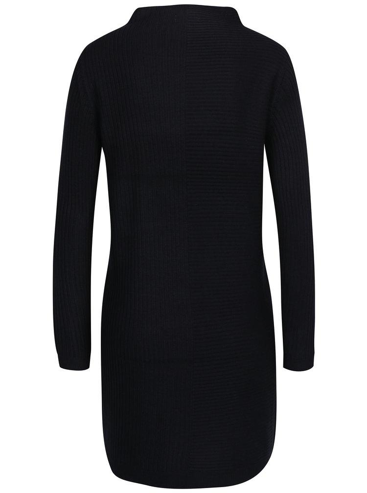 Černé svetrové žebrované šaty Jacqueline de Yong Mindy