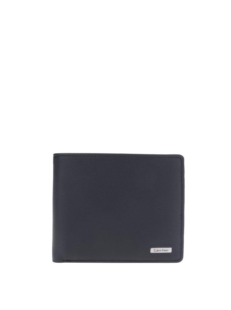 Černá pánská kožená peněženka Calvin Klein Rail