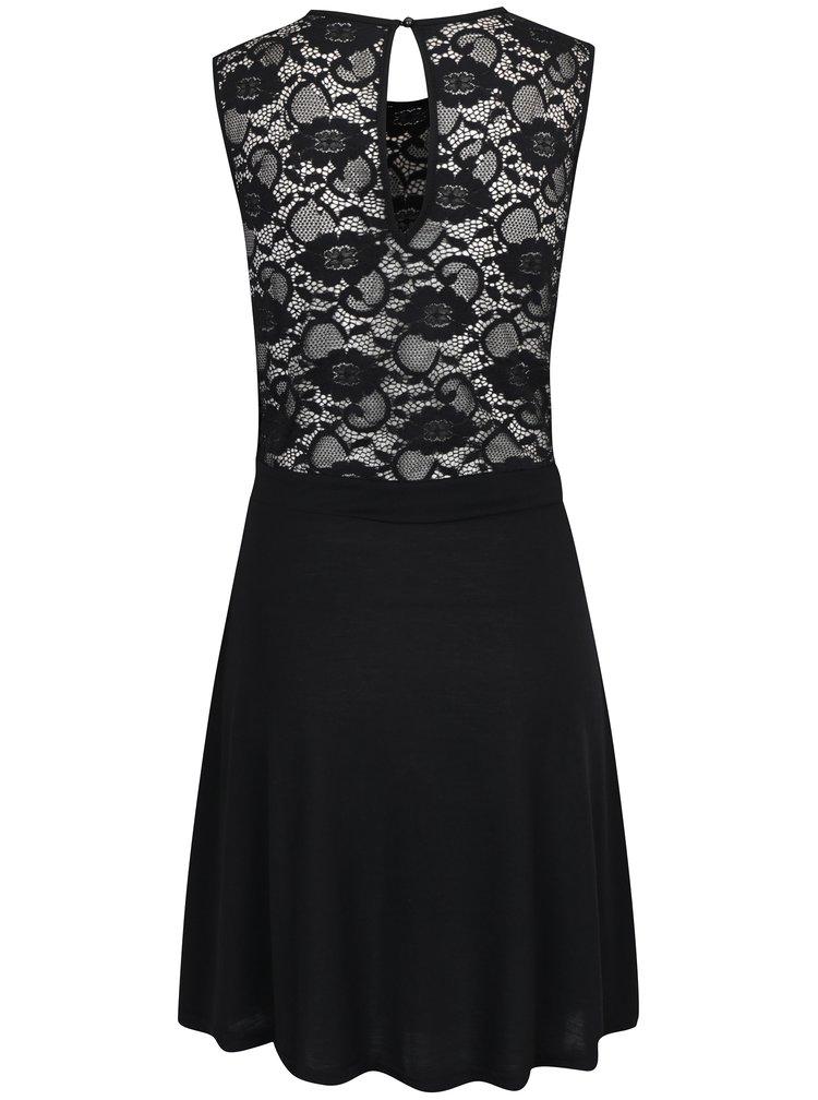 Černé šaty s krajkovým topem Jacqueline de Yong Green