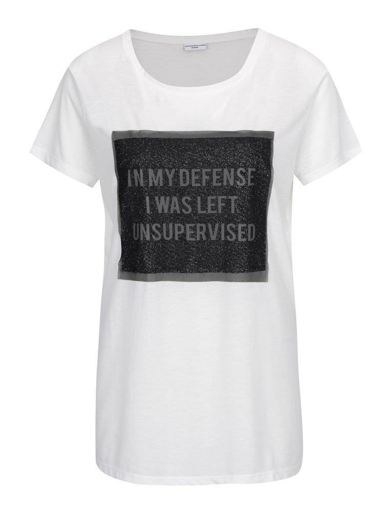 Krémové tričko s potiskem Jacqueline de Yong Ball