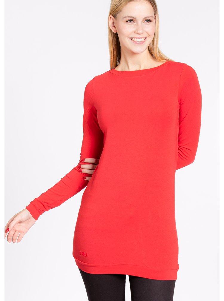 Bluză roșie lungă Blutsgeschwister