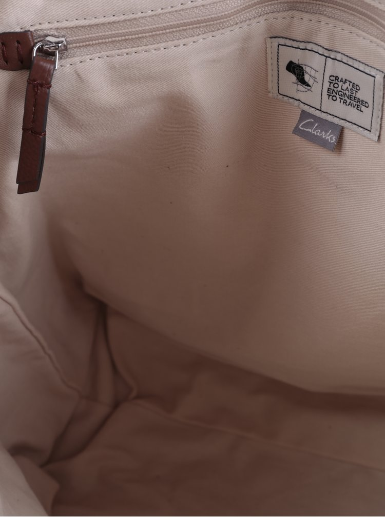 Hnědý dámský kožený batoh Clarks Totterdown Bay