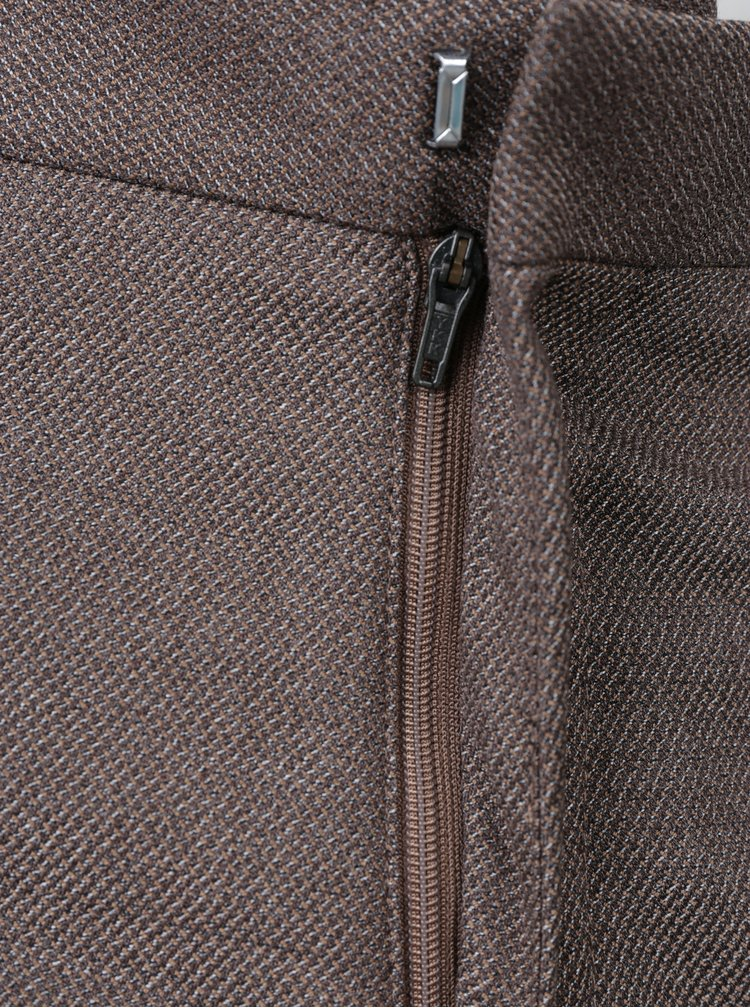 Hnedé melírované oblekové nohavice Selected Homme Done Buffalo