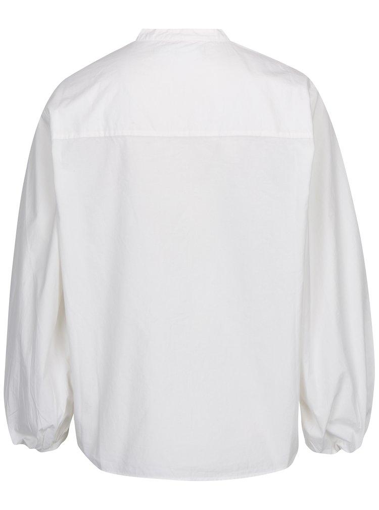Krémová košile s 3/4 balónovým rukávem VERO MODA Thea