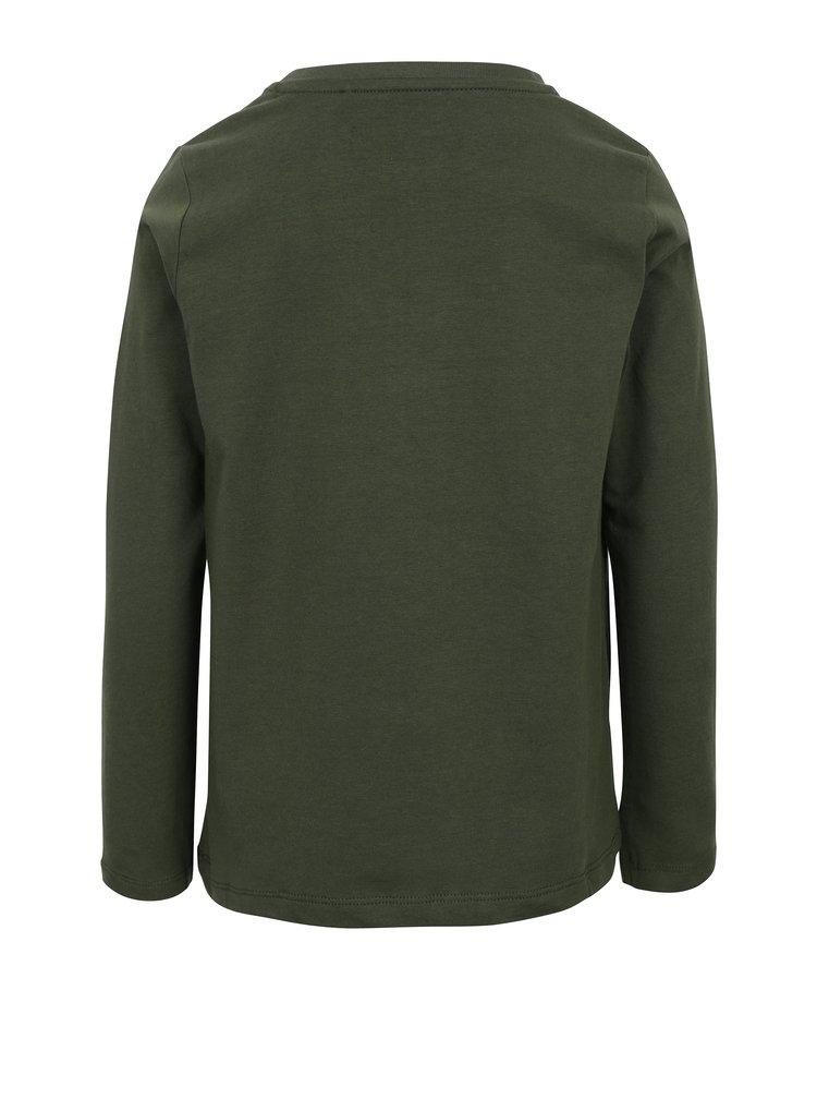Khaki klučičí tričko s potiskem name it Vux