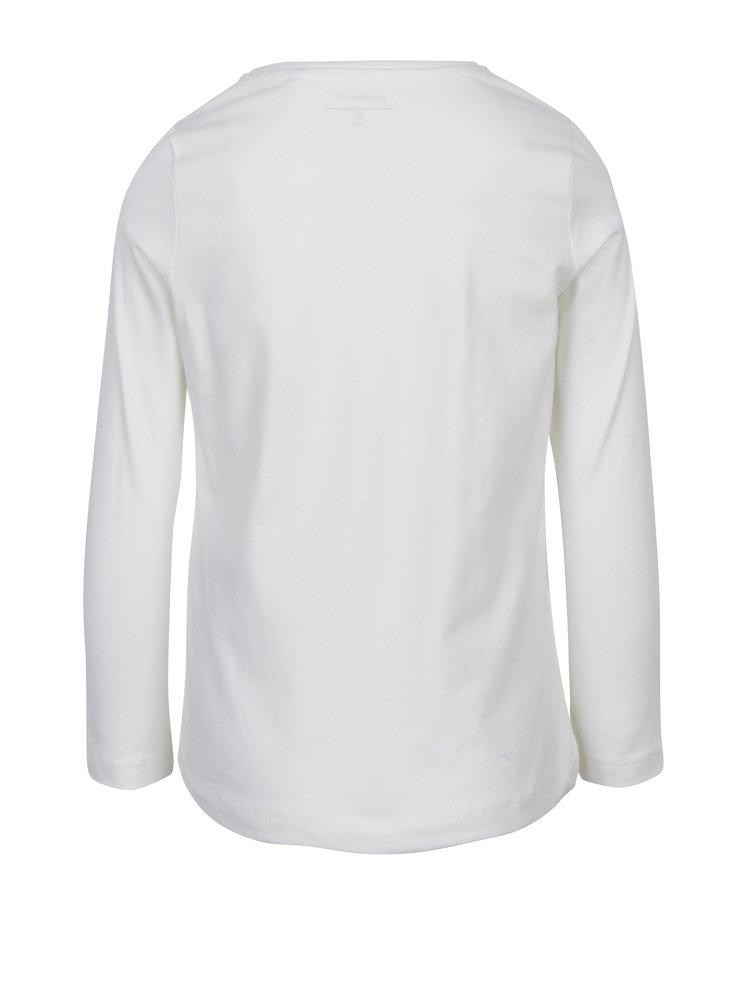 Krémové holčičí tričko s potiskem name it Vix