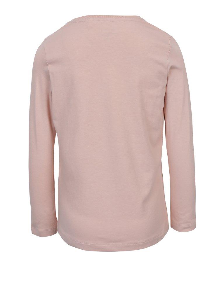 Světle růžové holčičí tričko s potiskem name it Vix