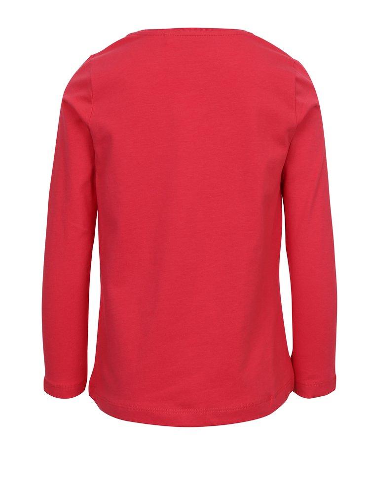 Červené holčičí tričko s potiskem name it Vix