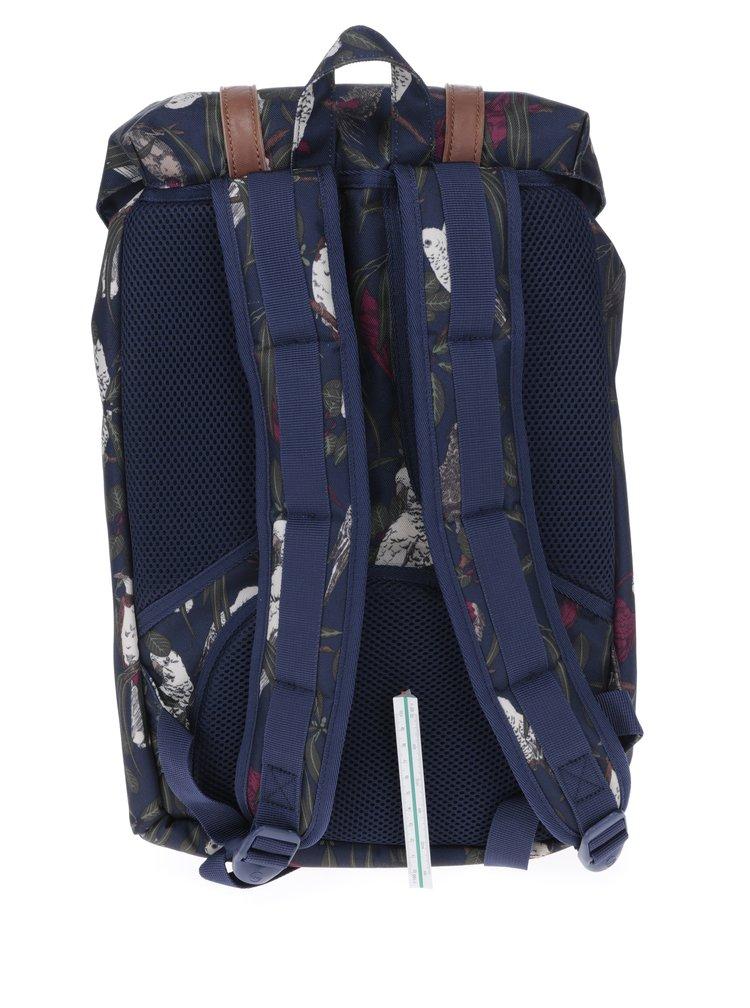 Tmavě modrý batoh s potiskem Herschel Little America Mid-Volume 17 l