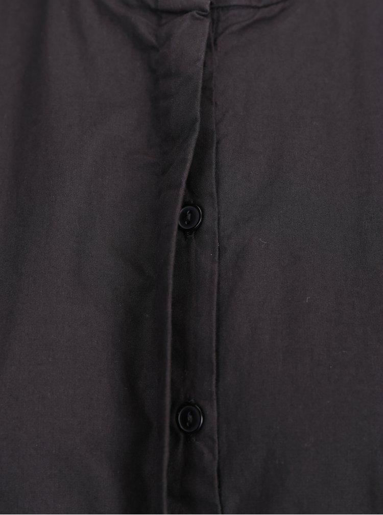 Cămașă neagră de bumbac cu mâneci 3/4 -  VERO MODA Thea