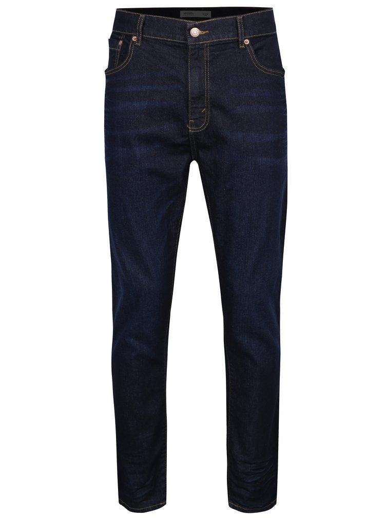 Tmavě modré regular džíny Burton Menswear London