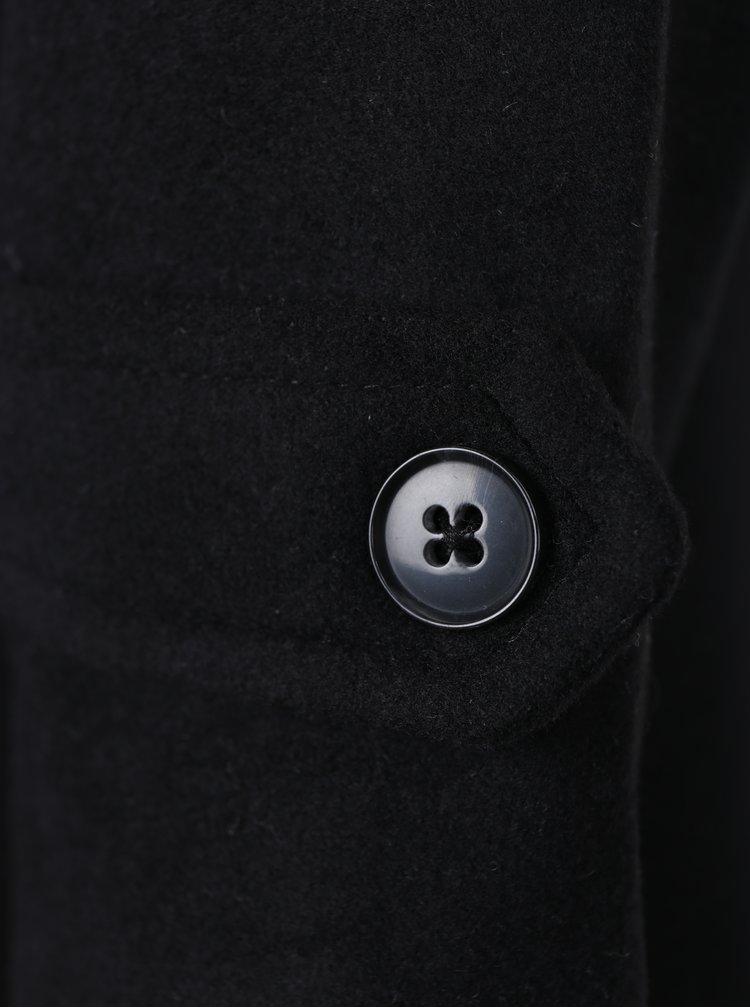 Černý kabát s páskem VERO MODA Quiz