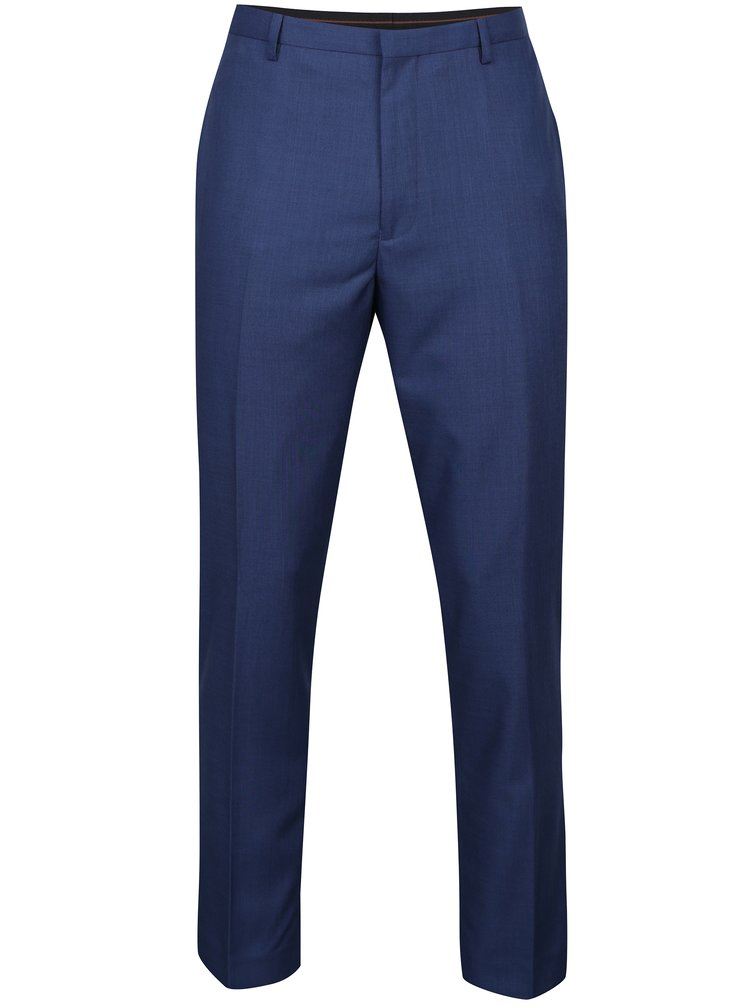 Modré slim kalhoty Burton Menswear London