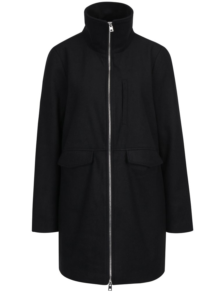 Černý kabát se zipem Noisy May Minna