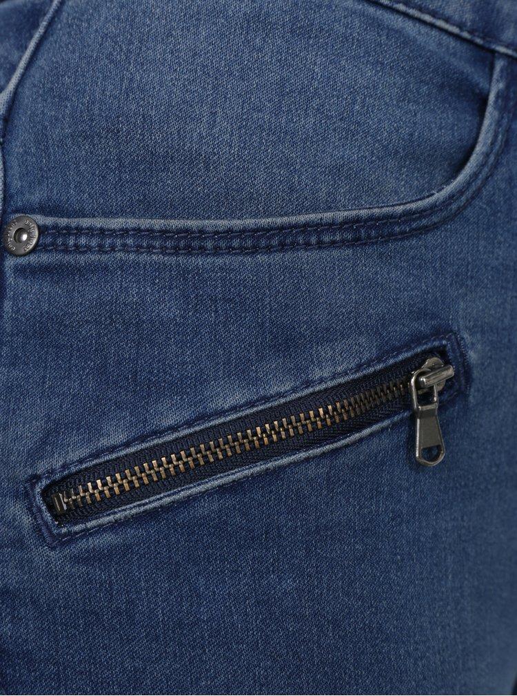 Modré skinny džíny s prošívanými detaily na kolenou ONLY Royal