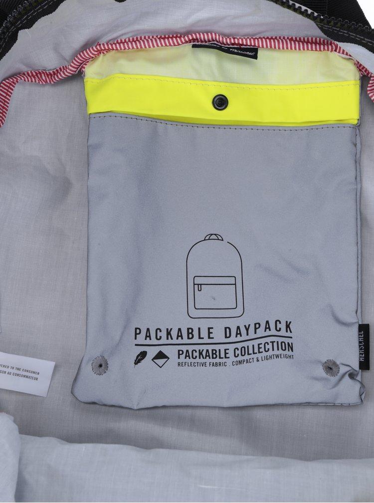 Žluto-šedý reflexní skládací batoh Herschel Packable 24,5 l