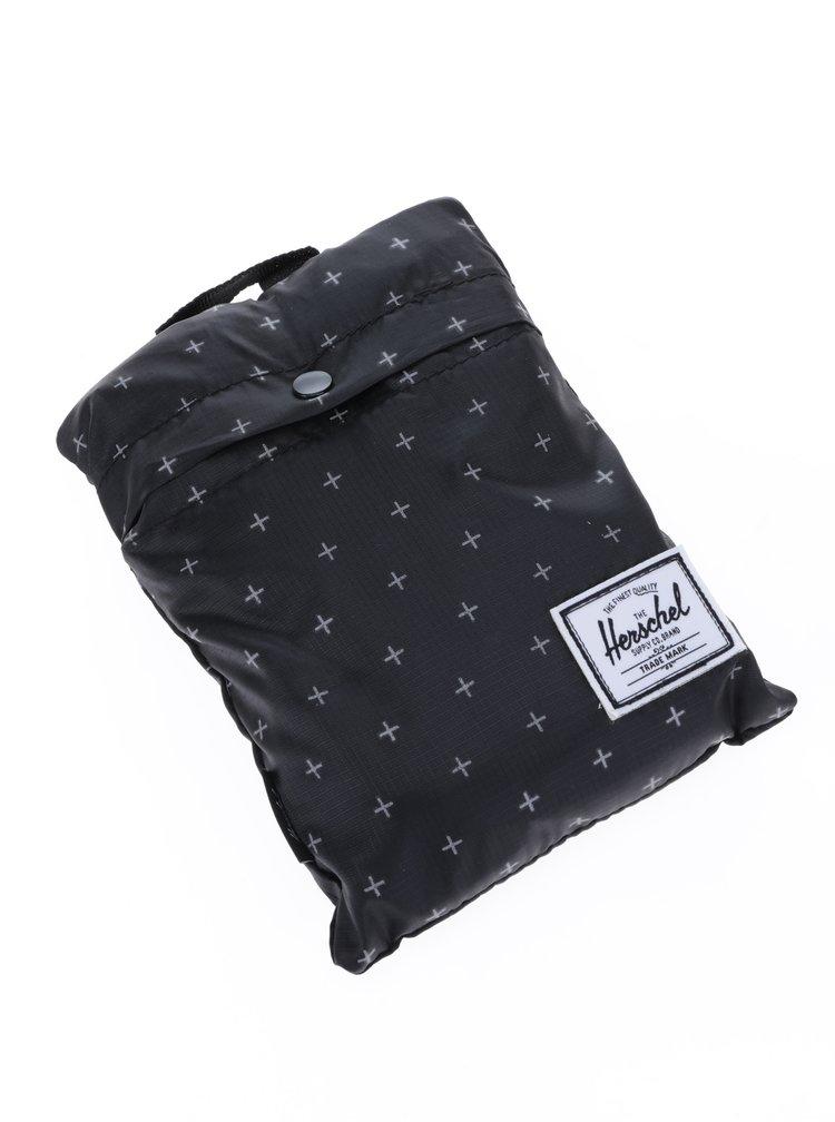 Černý skládací batoh s potiskem Herschel Packable 24,5 l