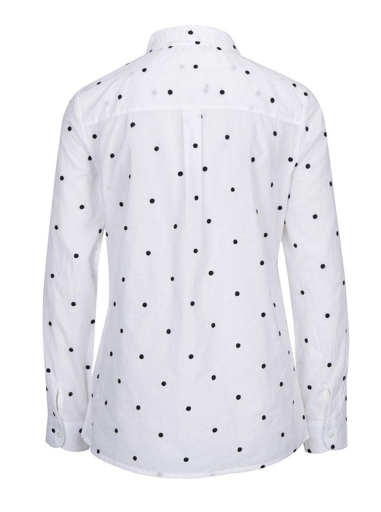 Bílá puntíkovaná košile Dorothy Perkins