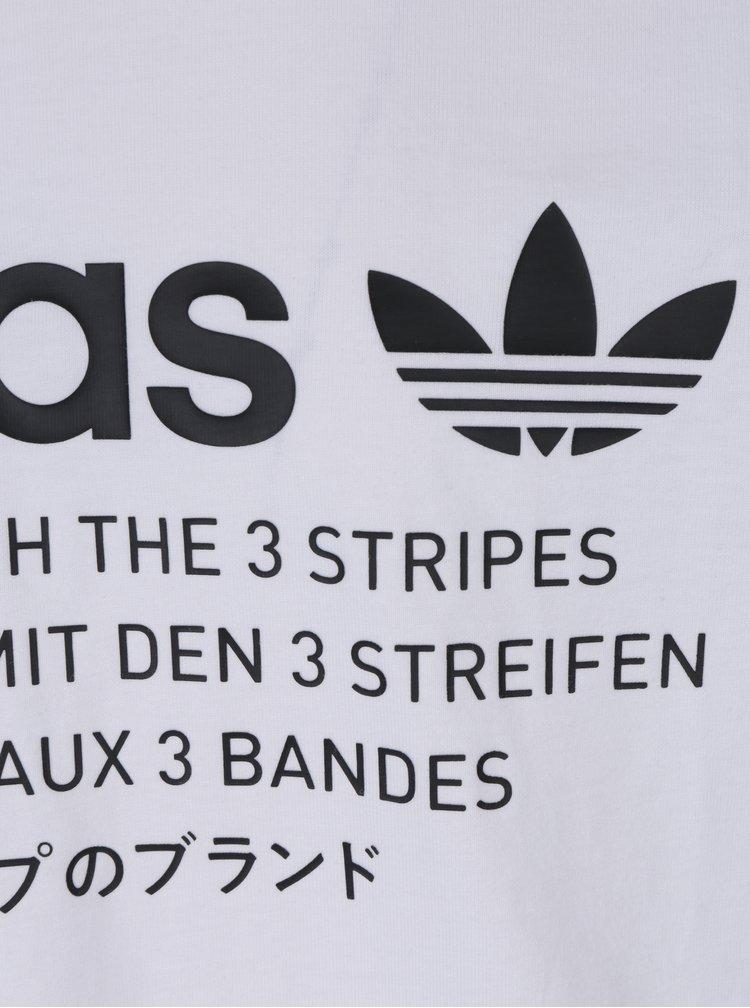 Bílé pánské tričko s potiskem adidas Originals