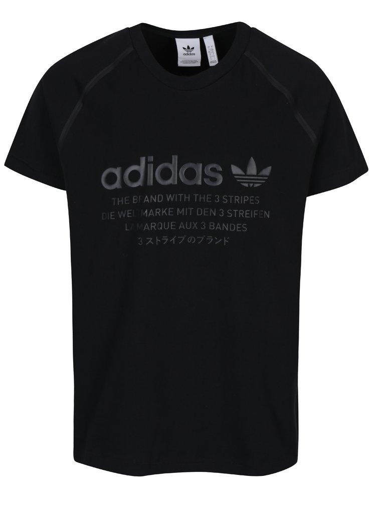 Černé pánské tričko s potiskem adidas Originals