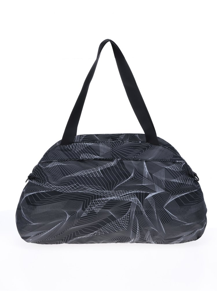 Geanta sport  neagra cu model geometric Nike Aura Print