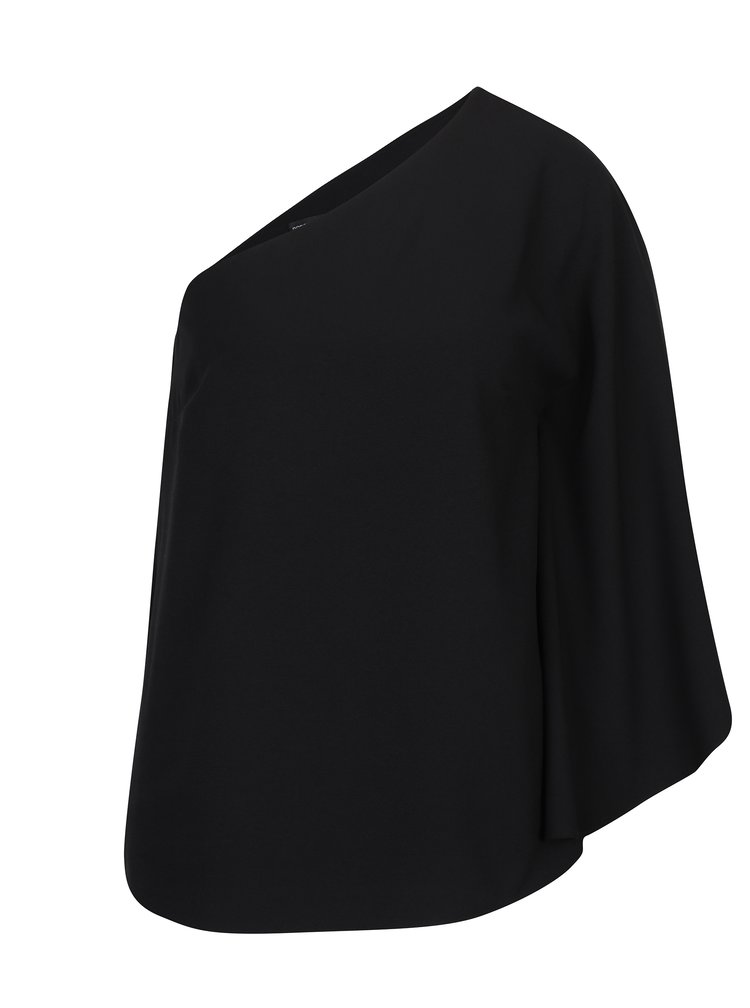 Černá volná halenka přes jedno rameno Dorothy Perkins