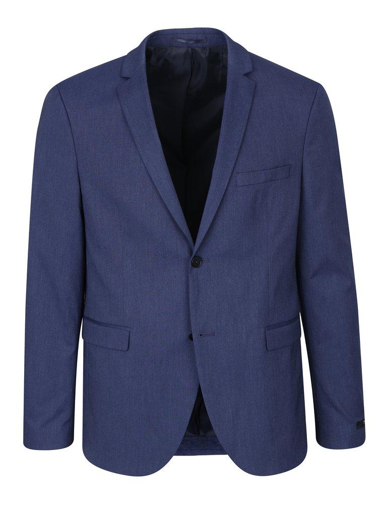 Tmavě modré oblekové slim fit sako Jack & Jones Peter