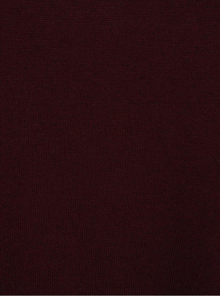 Bluză bordo cu crem cu aspect 2 în 1  Dorothy Perkins Curve