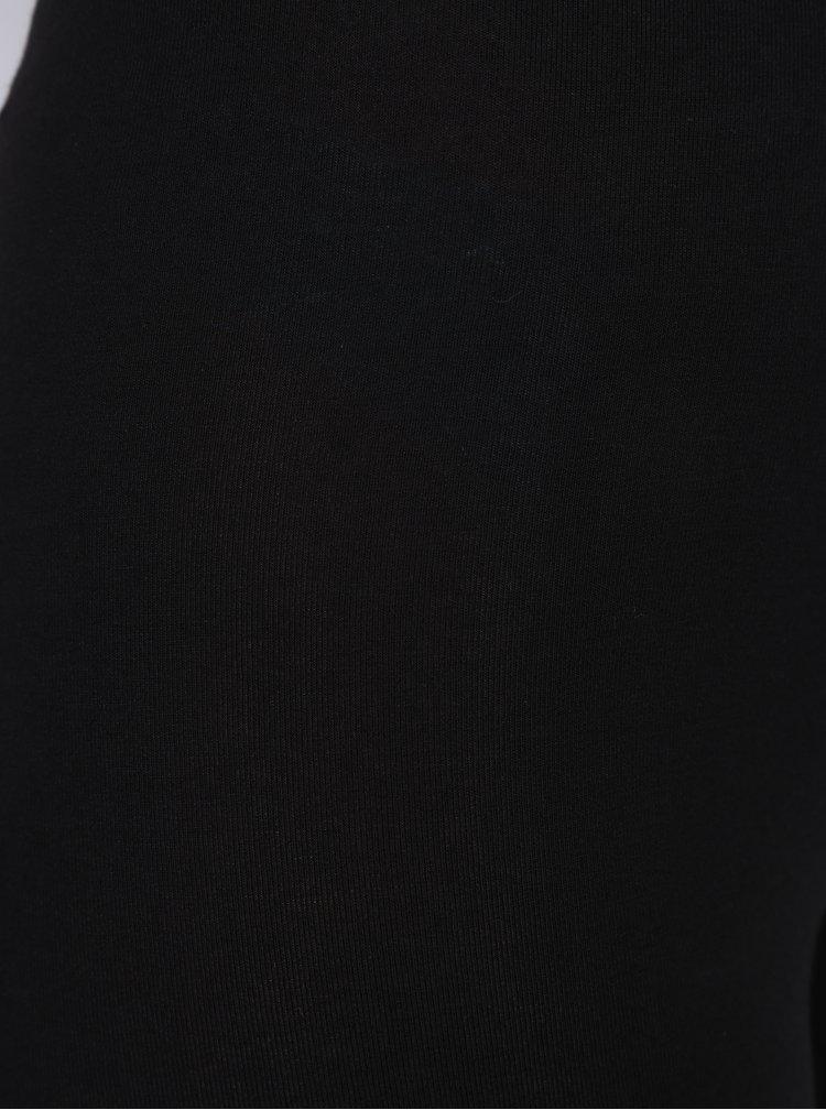 Čierne legíny s vyšším pásom Dorothy Perkins Tall