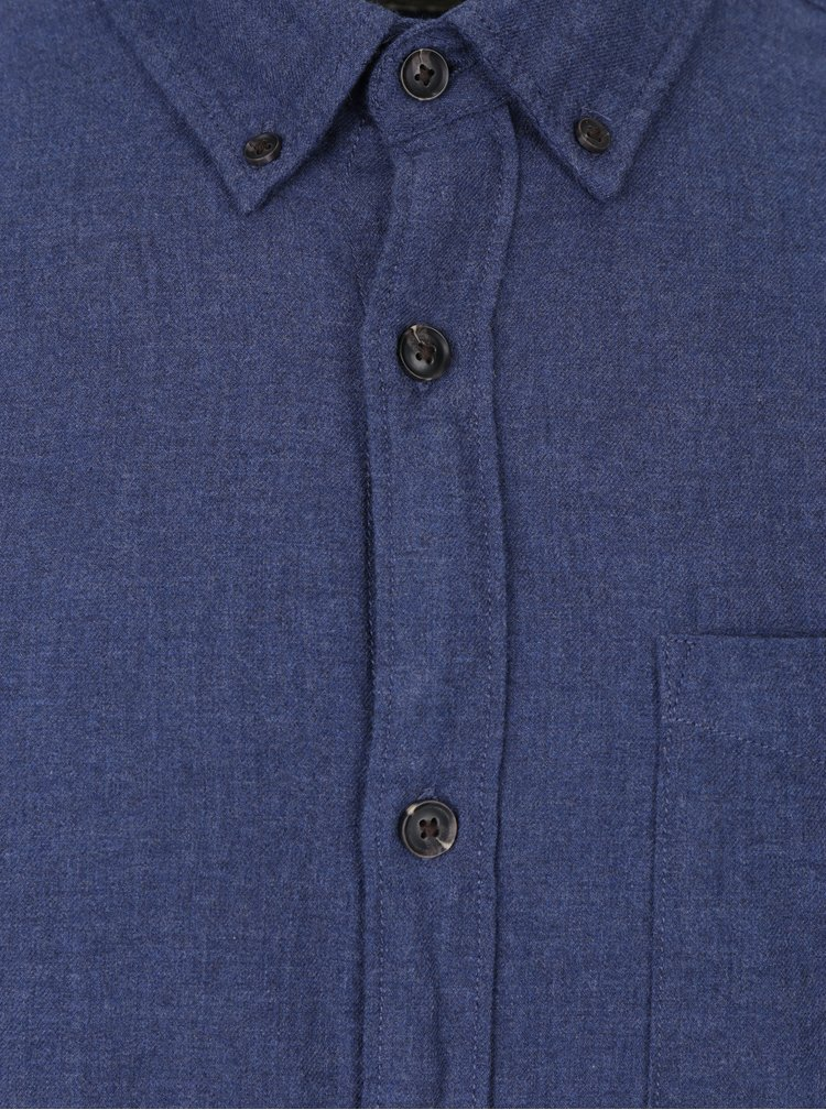 Tmavě modrá košile s náprsní kapsou Jack & Jones Voakland