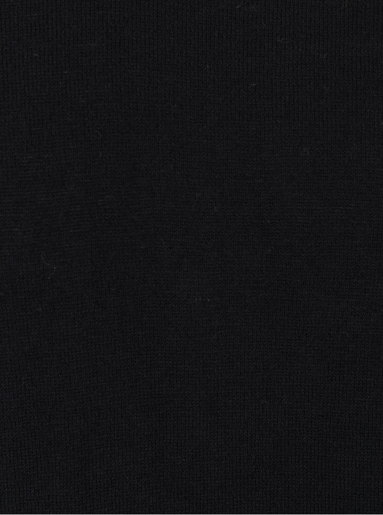 Pulover negru cu guler encoeur - Jack & Jones Luke