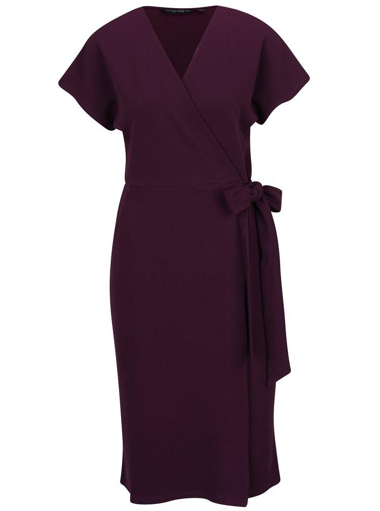 Fialové zavinovací šaty Dorothy Perkins