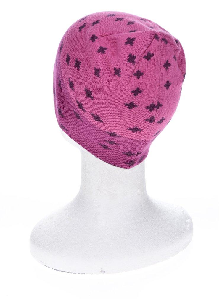Růžová vzorovaná holčičí čepice name it Manto