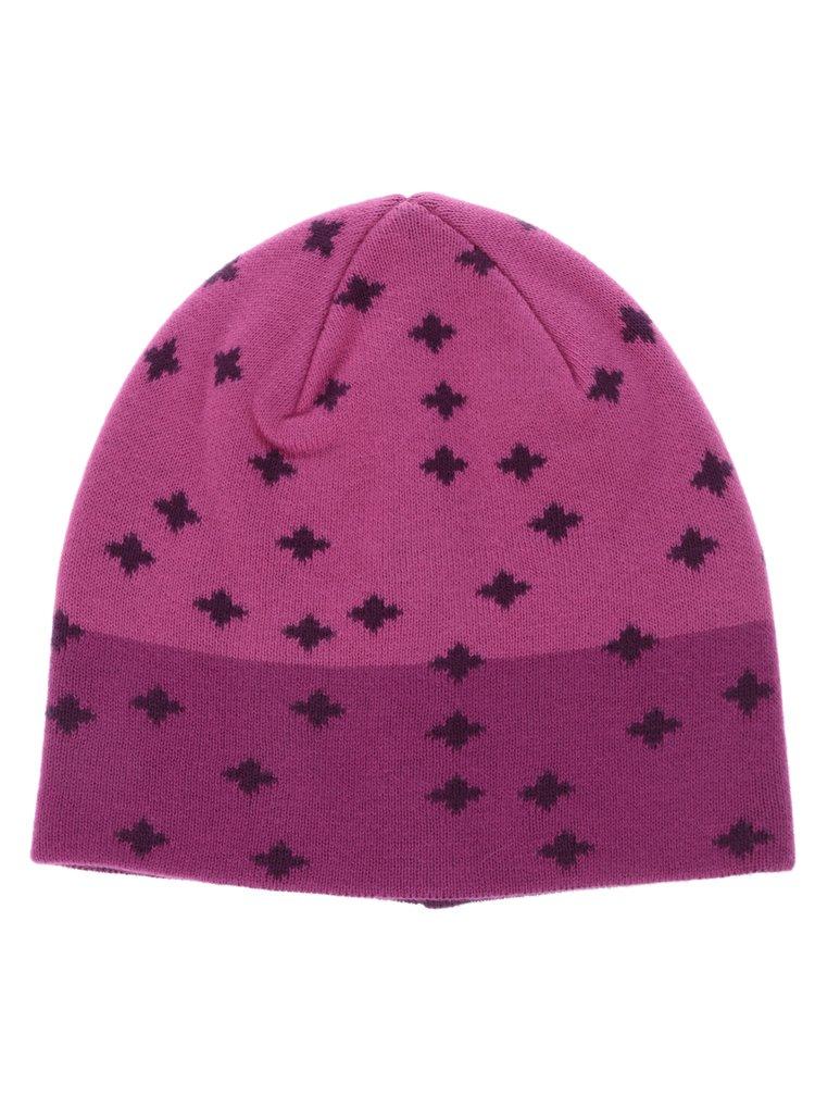 Růžová holčičí vzorovaná čepice name it Manto