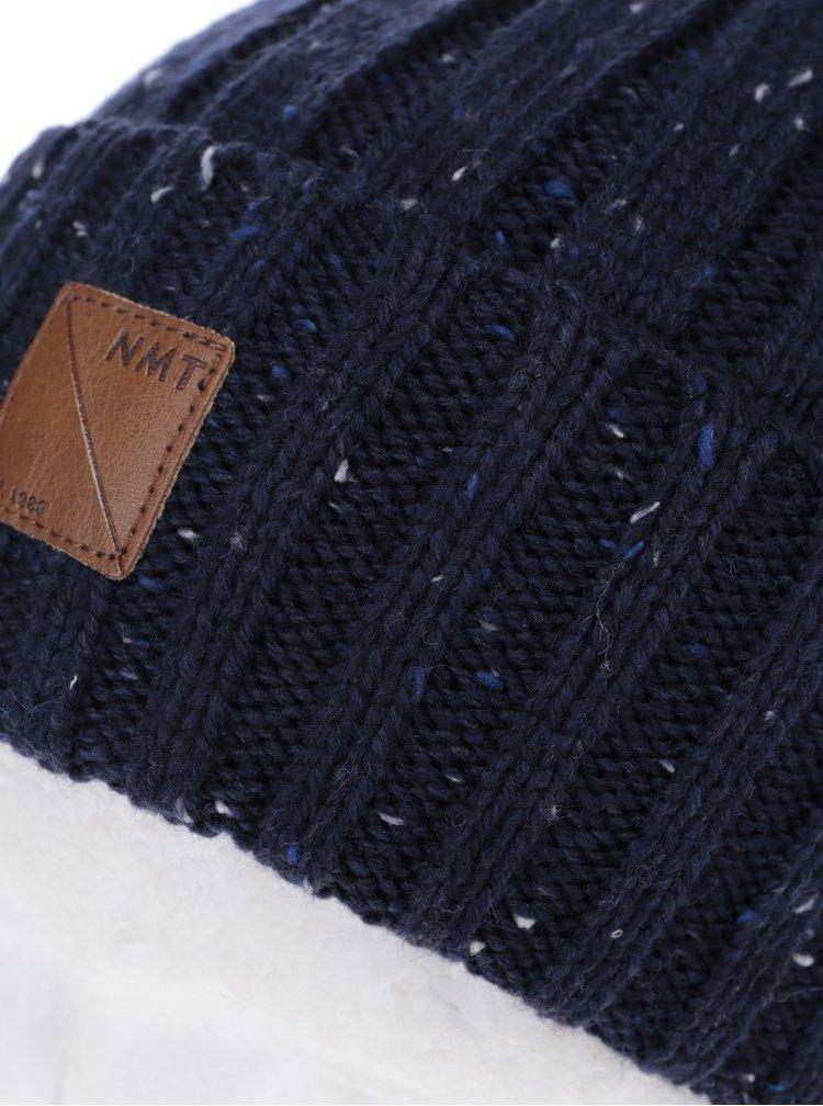 Tmavě modrá pletená klučičí čepice name it Malle