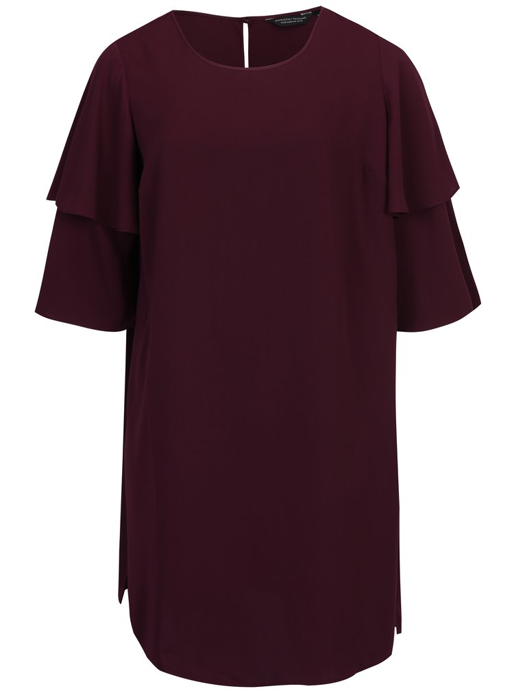 Fialové šaty s 3/4 rukávem Dorothy Perkins Curve