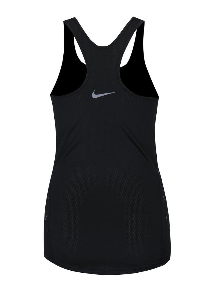 Top sport negru cu model geometric pentru femei Nike
