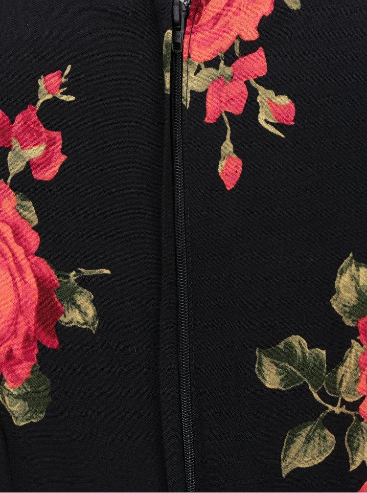 Červeno-černé květované šaty Dorothy Perkins