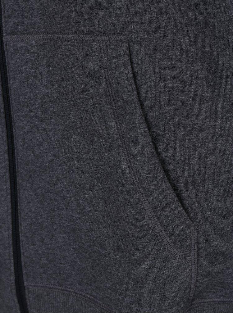 Tmavě šedá pánská mikina na zip s kapucí Under Armour