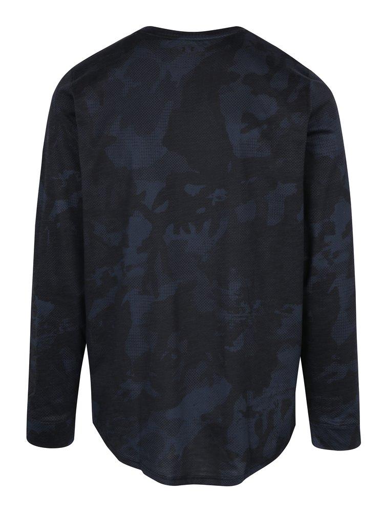 Sivé pánske tričko s dlhým rukávom Under Armour