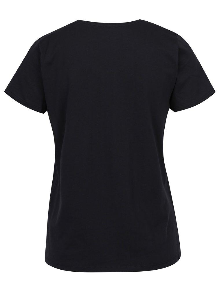 Černé tričko s potiskem ONLY Happy Ella