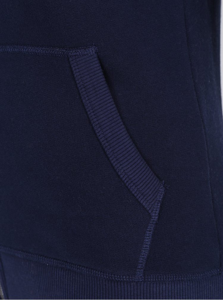 Tmavě modrá dámská mikina na zip Jimmy Sanders