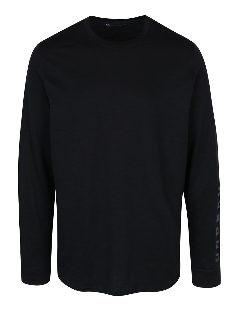 Čierne pánske tričko s dlhým rukávom Under Armour