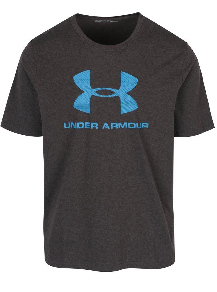 Tmavě šedé pánské tričko s krátkým rukávem Under Armour