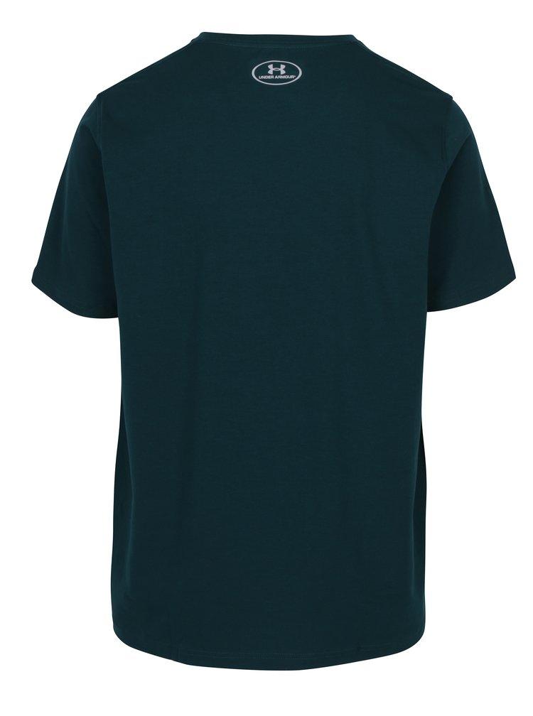 Tmavě zelené pánské tričko s krátkým rukávem Under Armour