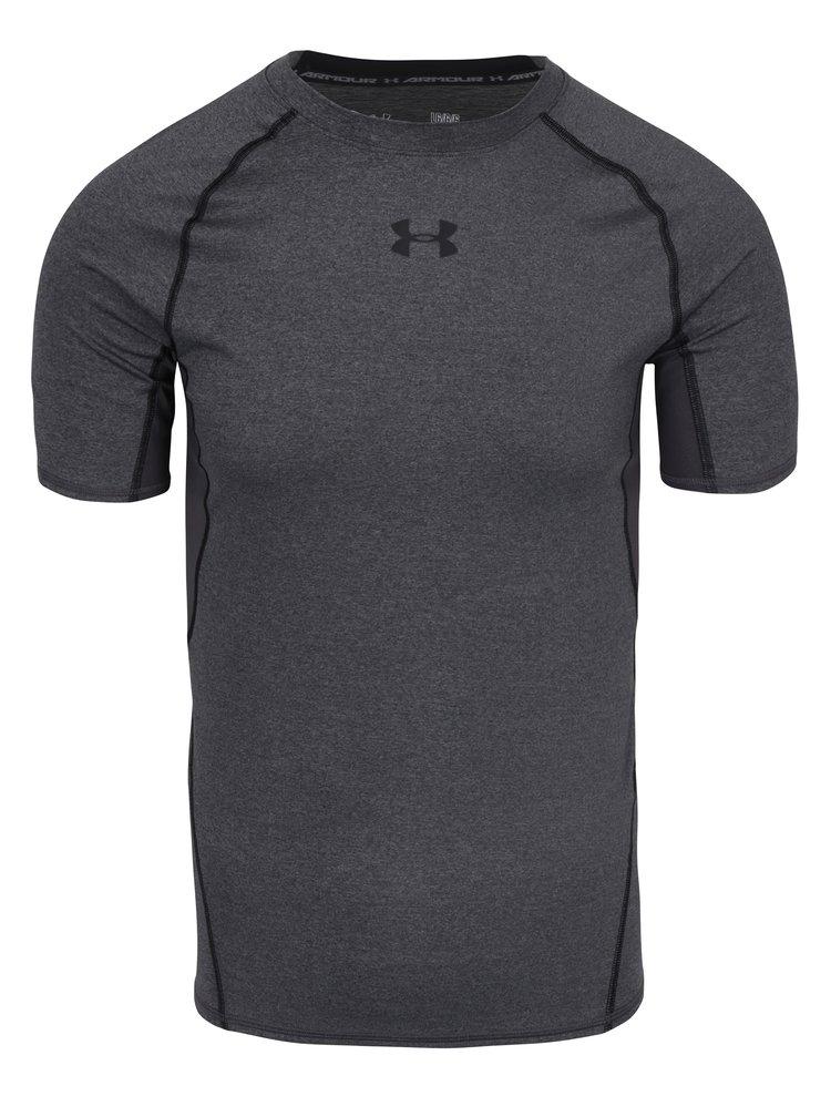 Šedé pánské funkční tričko s krátkým rukávem Under Armour